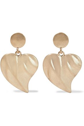 KENNETH JAY LANE Brushed gold-plated earrings