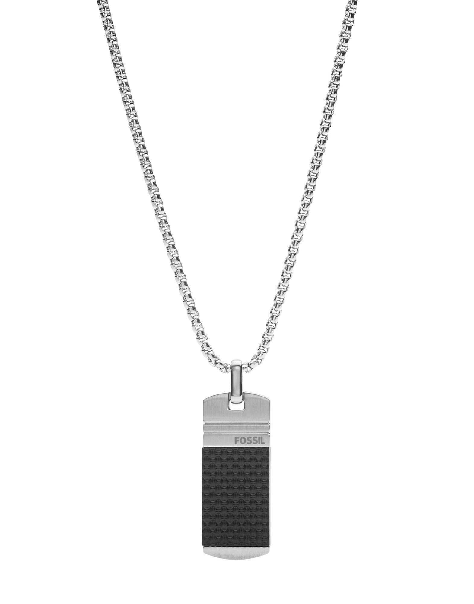 《セール開催中》FOSSIL メンズ ネックレス シルバー ステンレススチール / ポリウレタン MENS DRESS