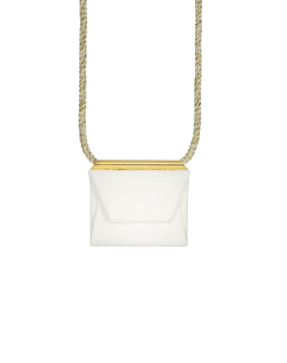 WHITE ENVELOPE NECKLACE - Lanvin