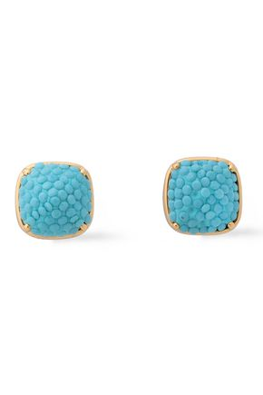 KATE SPADE New York Clay gold-tone resin earrings