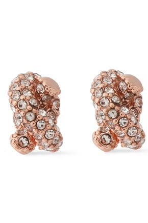 KATE SPADE New York Rose gold-tone crystal earrings