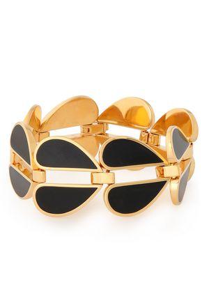 KATE SPADE New York Gold-tone enamel bracelet