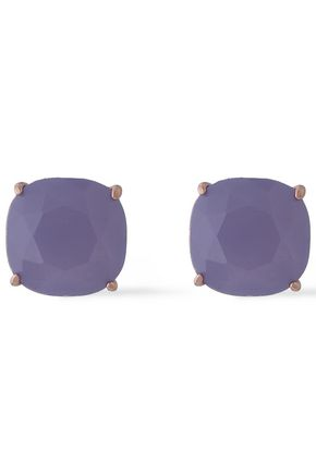 KATE SPADE New York Rose gold-tone crystal earrings