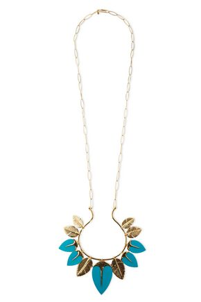AURÉLIE BIDERMANN Talitha gold-plated turquoise necklace