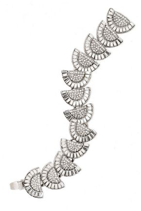 BEN-AMUN Silver-tone crystal bracelet
