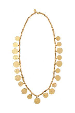 BEN-AMUN 24-karat gold-plated necklace