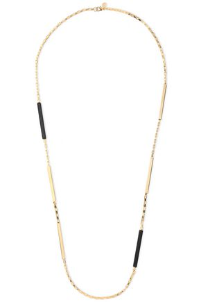 BEN-AMUN 24-karat gold-plated resin necklace