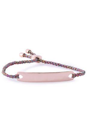 MONICA VINADER Havana braid-trimmed 18-karat rose gold-plated sterling silver bracelet