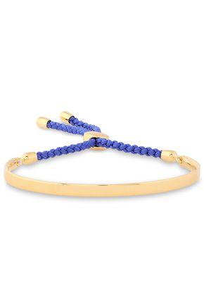 MONICA VINADER Blue Fiji braid-trimmed 18-karat gold-plated sterling silver bracelet