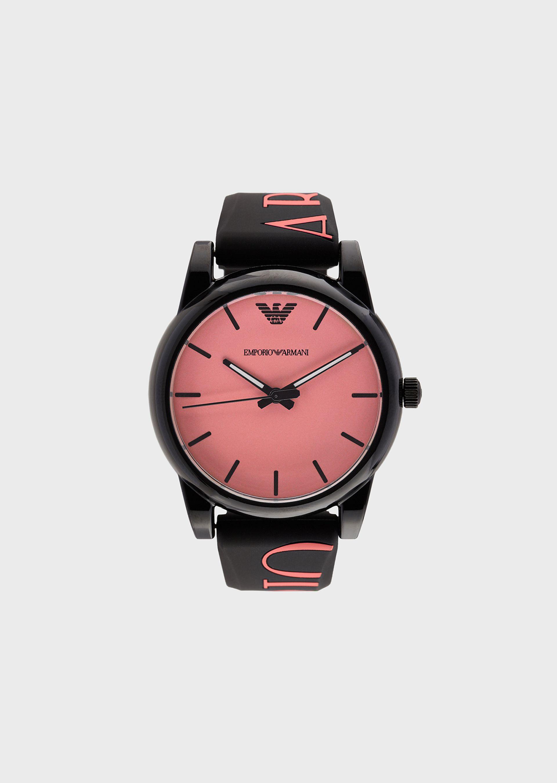 Emporio Armani Rubber Strap Watches - Item 50237887 In Black
