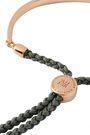 MONICA VINADER Fiji 18-karat gold vermeil and braided cord bracelet