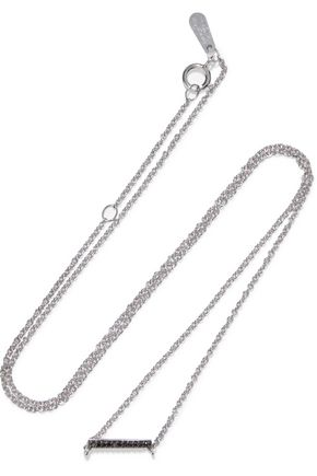ADINA REYTER Sterling silver black diamond necklace