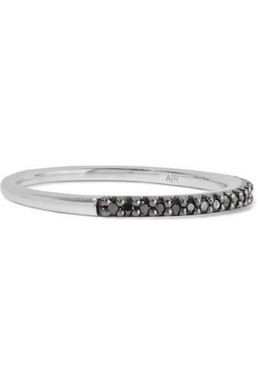 ADINA REYTER Sterling silver black diamond ring