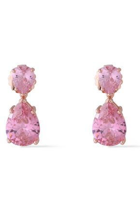 CZ by KENNETH JAY LANE Rose gold-plated crystal earrings