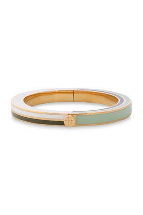 TORY BURCH Gold-tone and enamel bangle