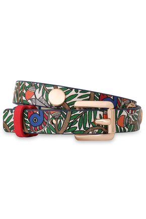 TORY BURCH Something Wild reversible studded leather bracelet