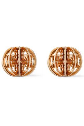 TORY BURCH Gold-tone clip earrings