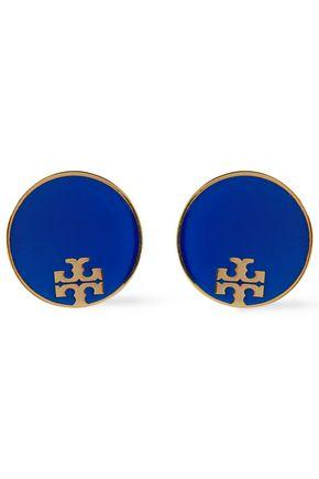TORY BURCH Gold-tone resin earrings