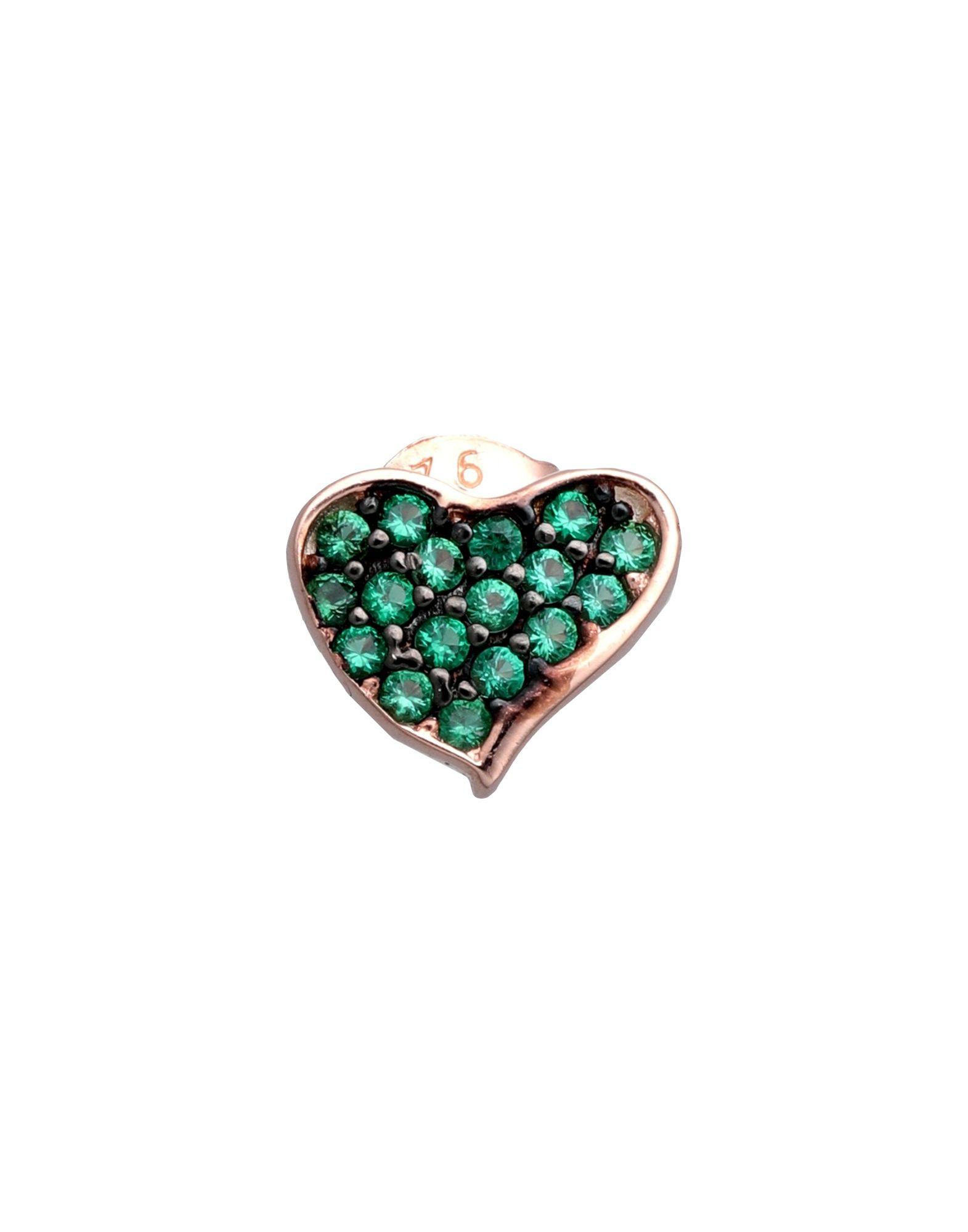《セール開催中》TALITA London レディース ピアス&イヤリング グリーン シルバー925/1000 Heart Wave