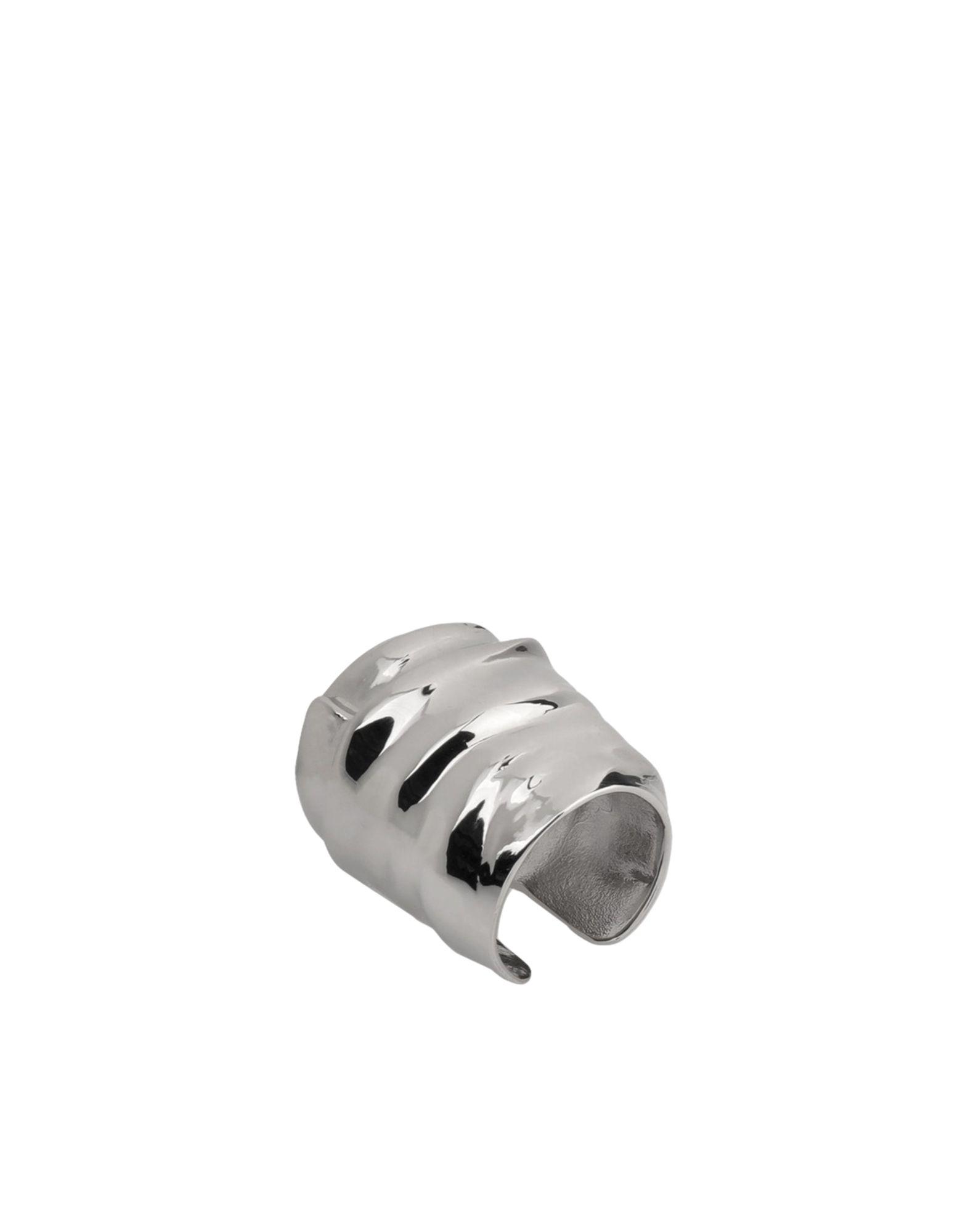 《セール開催中》MAISON MARGIELA レディース 指輪 シルバー M 真鍮/ブラス 100%