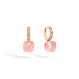 POMELLATO 	O.B401 E Rose Quartz Nudo Classic Earrings f