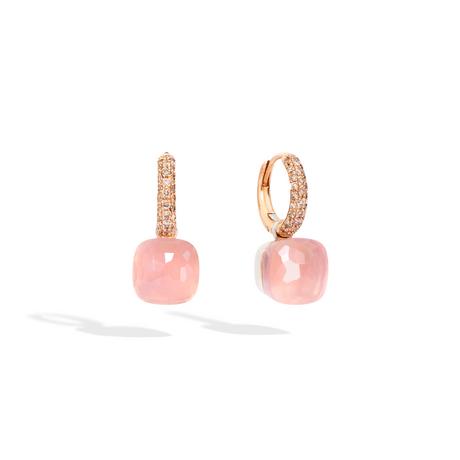 POMELLATO Boucles d'oreilles Nudo Quarzo Rosa Classic O.B401 E f