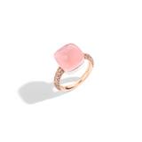 POMELLATO A.B401 E Rose Quartz Nudo Maxi Ring f