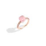 POMELLATO A.B704B E Rose Quartz Nudo Petit Ring f