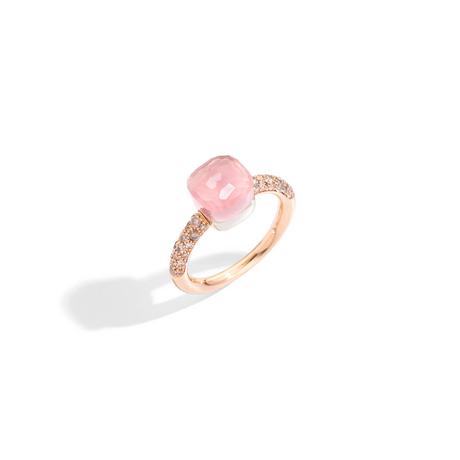 POMELLATO Kleiner Ring Nudo aus Rosenquarz A.B704B E f