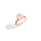 POMELLATO A.C004 E Klassischer Ring Nudo aus Rosenquarz f