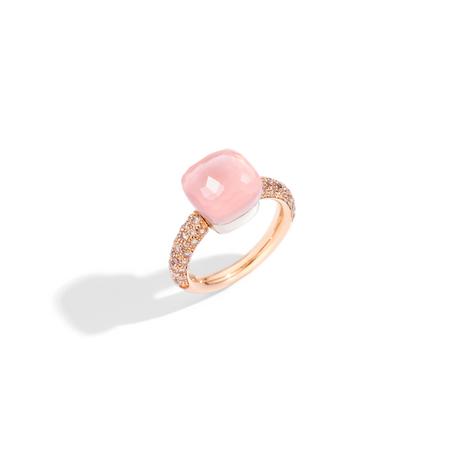 POMELLATO Klassischer Ring Nudo aus Rosenquarz A.C004 E f