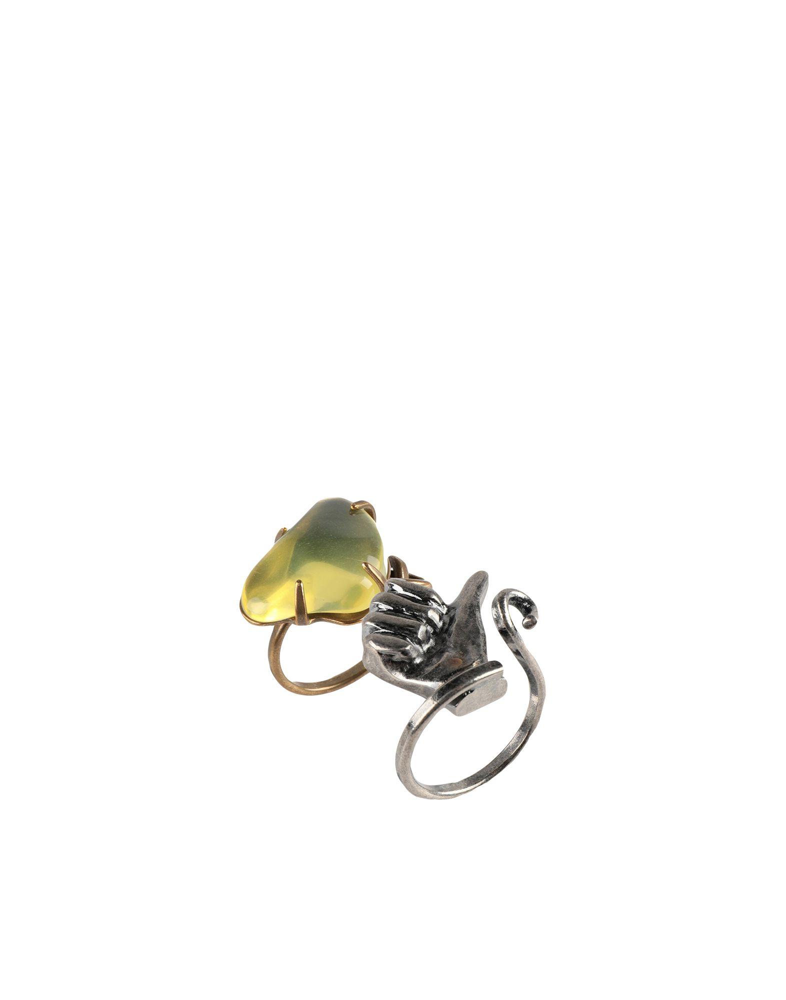 《セール開催中》MARNI レディース 指輪 イエロー L 金属 / 天然樹脂