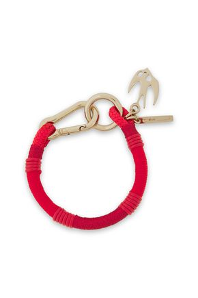 McQ Alexander McQueen Swallow gold-tone, braided cord and leather bracelet