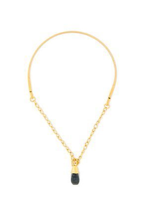 MARNI Gold-tone stone necklace