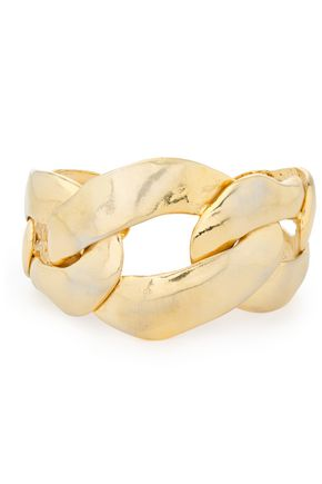 MARNI Hammered gold-tone cuff