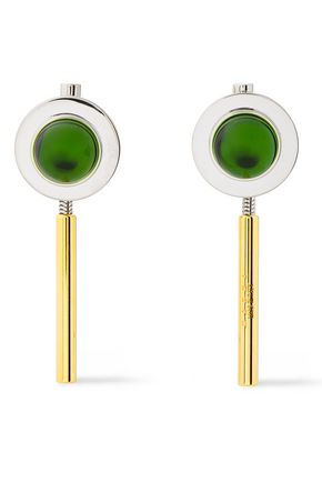 MARNI Silver and gold-tone resin earrings