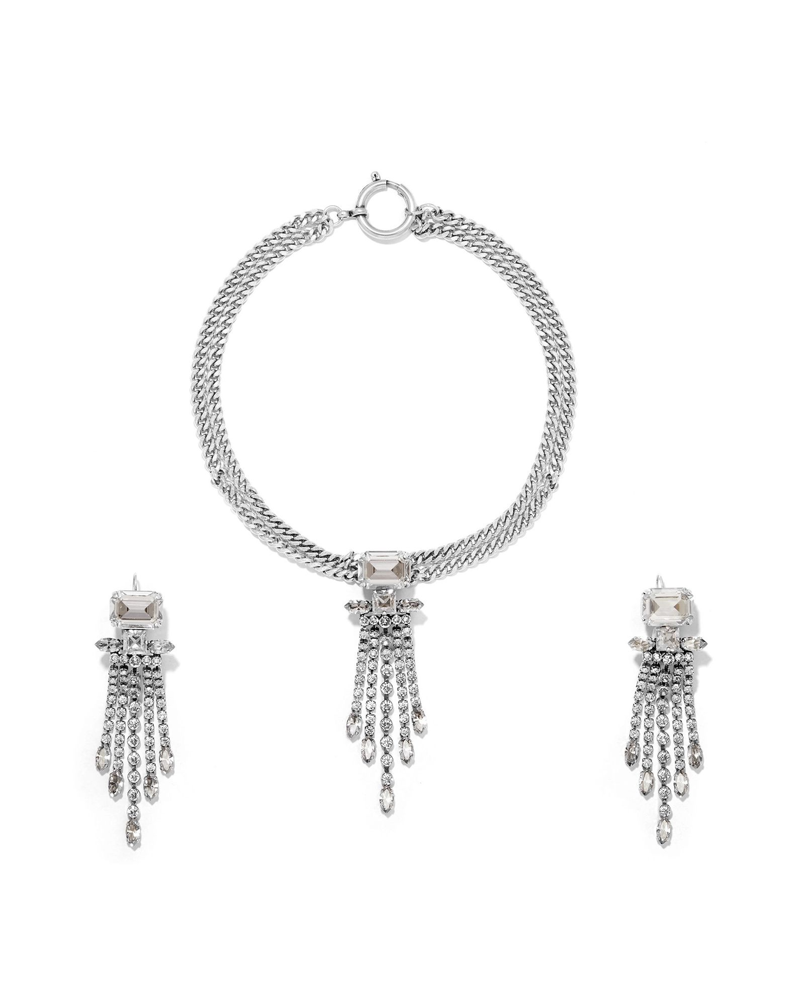 ISABEL MARANT Jewelry sets. rhinestones, clasp fastening. Metal