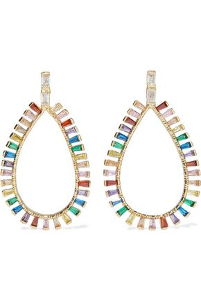 CZ by KENNETH JAY LANE Gold-plated crystal earrings
