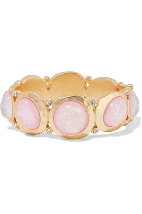 KENNETH JAY LANE Gold-plated, stone and crystal bracelet