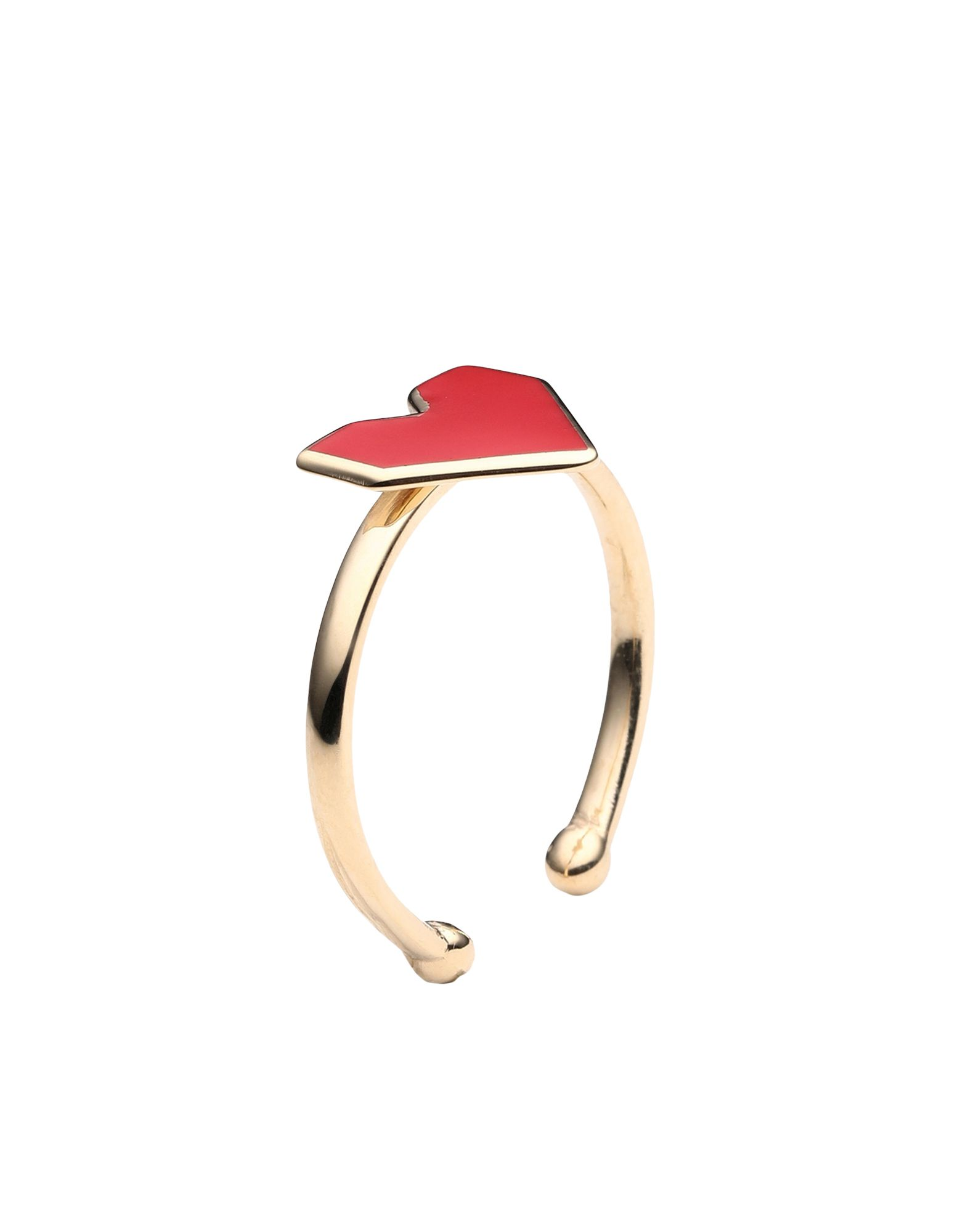 《セール開催中》FIRST PEOPLE FIRST レディース 指輪 レッド one size シルバー925/1000 / エナメル ANELLO CUORE ROSSO