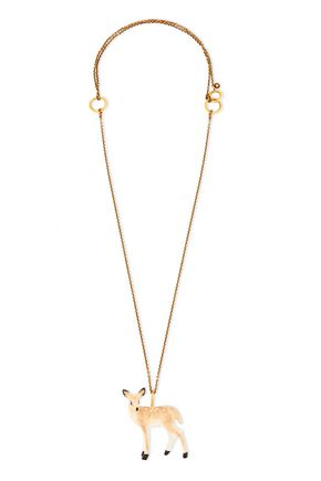 STELLA McCARTNEY Gold-tone resin necklace