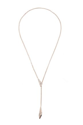 ALEXIS BITTAR Rose gold-tone crystal necklace