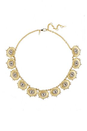 ALEXIS BITTAR Gold-tone crystal necklace