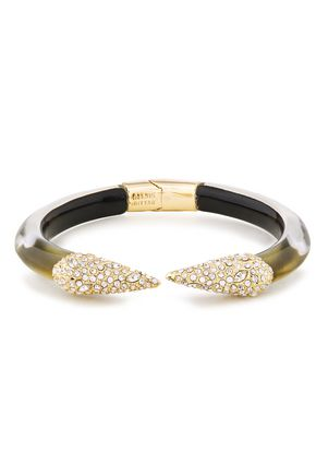 ALEXIS BITTAR Gold-tone resin and crystal cuff