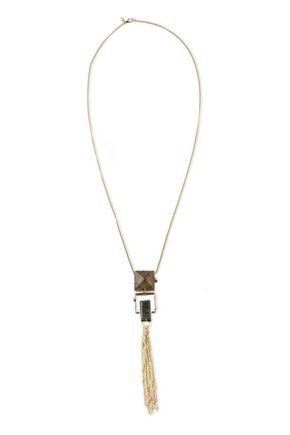 ALEXIS BITTAR Gold-tone stone necklace