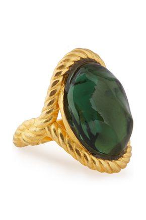 ALEXIS BITTAR خاتم باللون الذهبي مع حجر