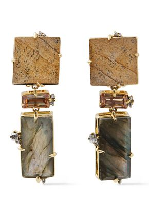 ALEXIS BITTAR Gold-tone stone earrings