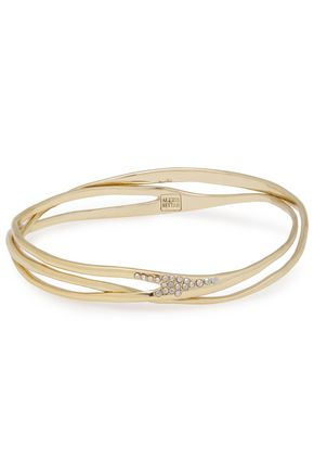 ALEXIS BITTAR Gold-tone crystal bangle