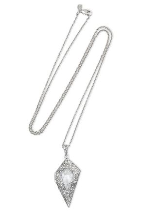 ALEXIS BITTAR Silver-tone crystal necklace