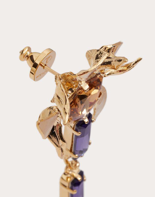 Resin, metal and crystal monkey earrings